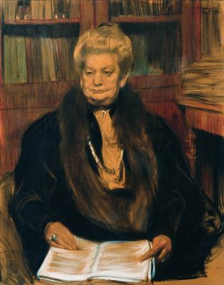 Boris Kustodiev. Portrait of the writer A. V. Schwartz