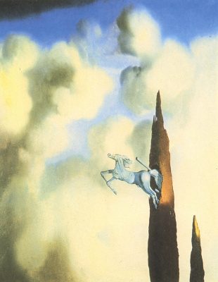 Salvador Dali. Morning ossification of the cypress