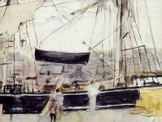 Berthe Morisot. The boat in the dock