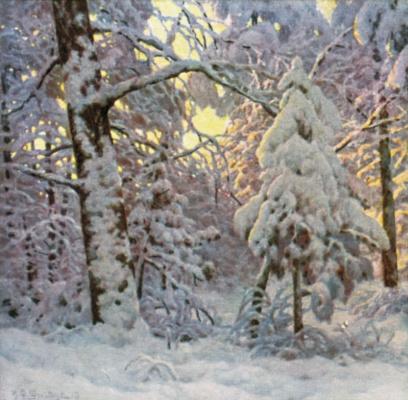 Иван Федорович Шультце. Зима