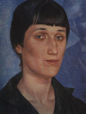 Kuzma Sergeevich Petrov-Vodkin. Portrait Of Anna Akhmatova