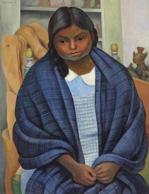Diego Maria Rivera. Girl in reboso