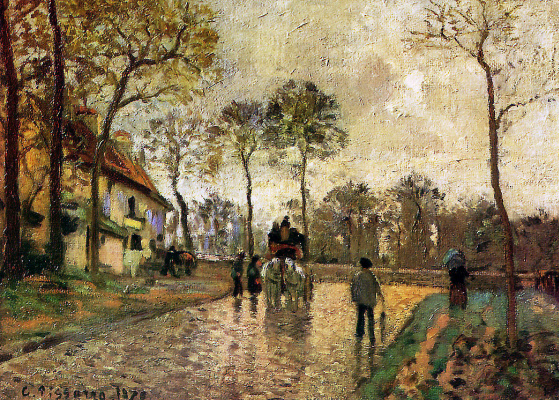 Camille Pissarro. The coach to Louveciennes
