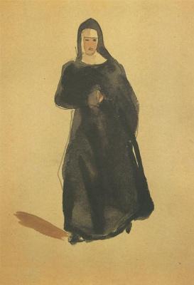 Александр Александрович Дейнека. Монахиня