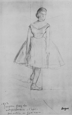 Edgar Degas. Dancer Josephine Goelan