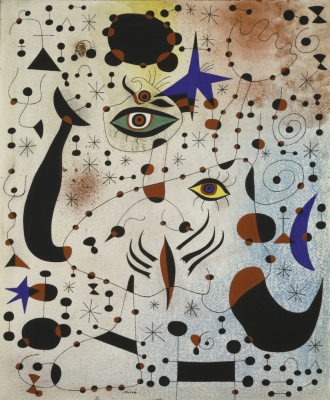 Joan Miro. Ciphers and constellations in love with a woman