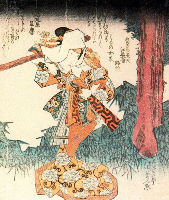 Утагава Кунисада. Актер кабуки в женской роли