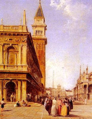 Эдвард Причетт. Площадь Сан-Марко в Венеции