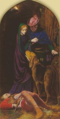 Артур Хьюз. Триптих: Канун дня Святой Агнессы. Правая панель