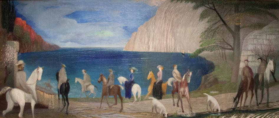Tivadar Kostka Chontvari. Coast. Horse riding