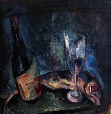 Nikolay Karpetsky. Dark still life.