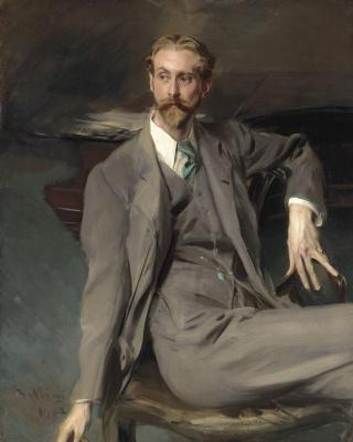 Portrait of the artist Lawrence Alexander (Peter) Harrison. 1902