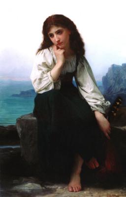 Elizabeth Gardner Bugro. Thoughtful girl