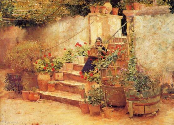 Садовые ступени в Южной Франции