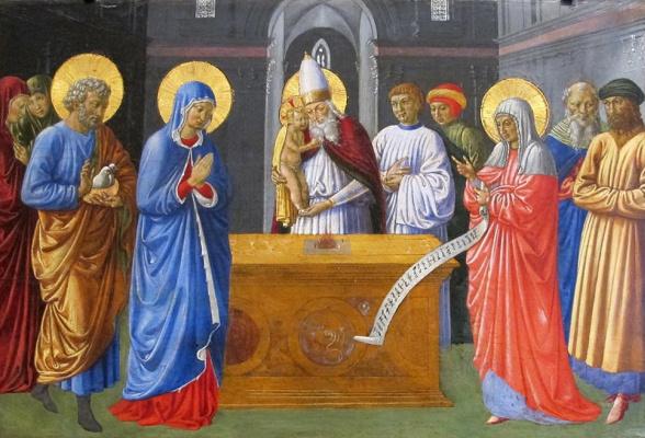 Беноццо Гоццоли. Принесение Иисуса во храм