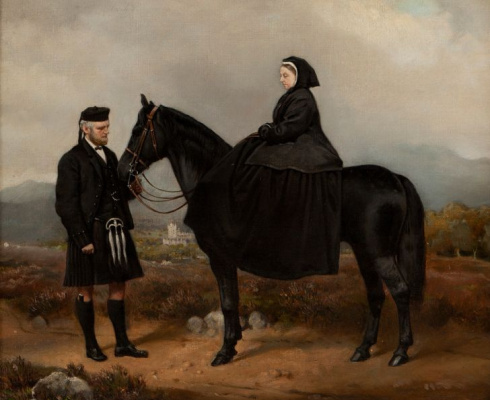 Чарльз Бертон Барбер. Королева Виктория с Джоном Брауном