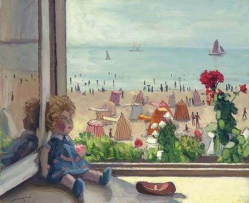 Альбер Марке. Кукла на окне