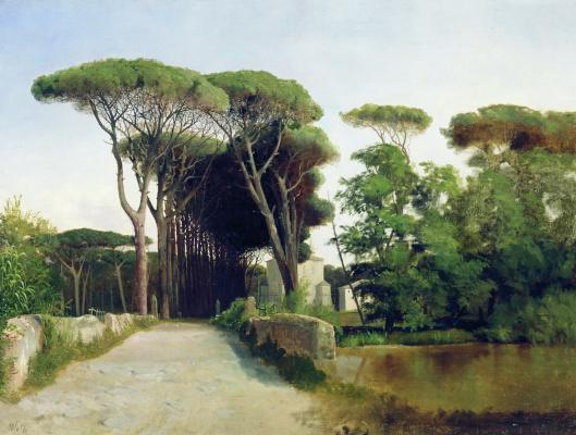 Lev Feliksovich Lagorio. Avenue of the pines