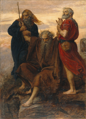 John Everett Millais. Victory, o Lord! (Moses over the battlefield)