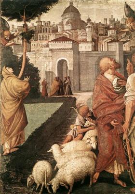 Гауденцио Феппапи. Благовещение Иоакима и Анны