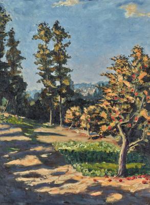 Уинстон Черчилль. Пейзаж с двумя деревьями