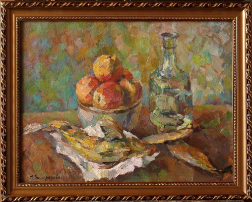 Nadezhda Alekseevna Vinogradova. Still life with a decanter
