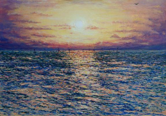 Irina Viktorovna Korotoyakskaya (Dronova). Sunset over the Azov