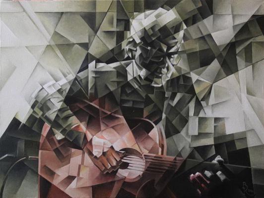 Vasily Vyacheslavovich Krotkov. Flamenco. Kubofuturizm