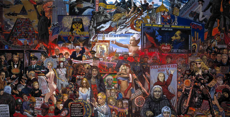 Ilya Sergeevich Glazunov. The market of our democracy. 1999
