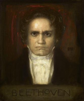 Franz von Stuck. Portrait of Ludwig van Beethoven. 1905