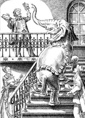 Alexander Vasilievich Kuzmin. Elephant. A.I. Kuprin.