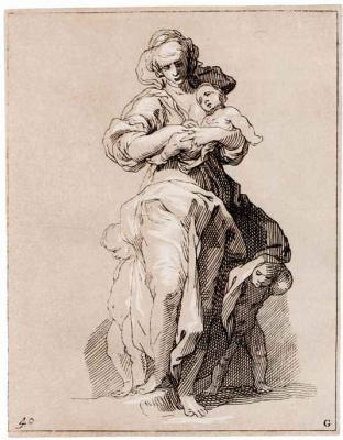 Абрахам Блумарт. Мать с тремя детьми