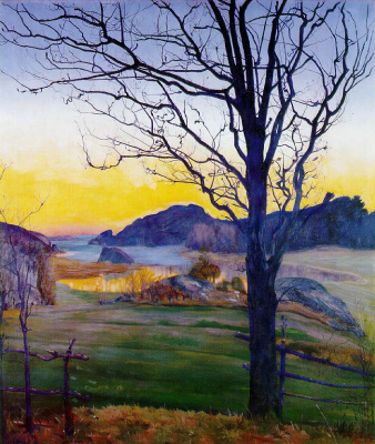 Harald Oscar Solberg. Autumn landscape