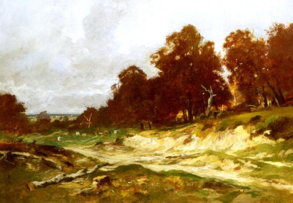 Отто Фрелихер. Пейзаж в Барбизон