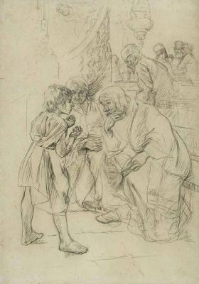 Макс Либерман. Двенадцатилетний Иисус в храме. Эскиз
