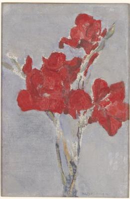 Piet Mondrian. Red gladiolus