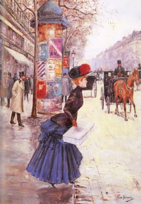 Жан Беро. Молодая женщина на бульваре