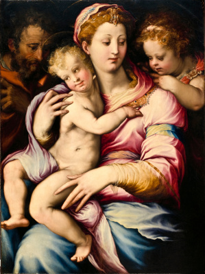 Francesco Salviati. Holy family and John the Baptist