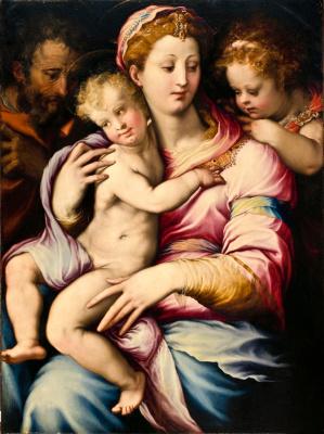 Франческо Сальвиати. Святая семья и Иоанн Креститель