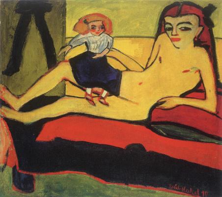 Erich Heckel. Girl with doll (Franzi)