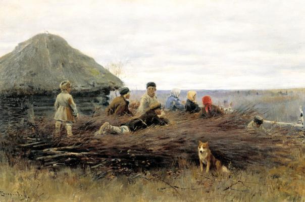 Алексей Степанович Степанов. Дети на хворосте