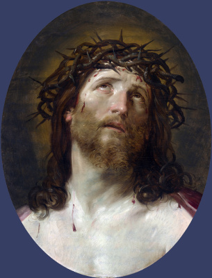Guido Reni. Head of Christ crowned with thorns