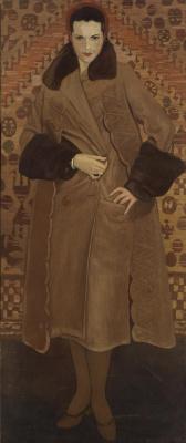 Святослав Николаевич Рерих. Портрет Кэтрин Кэмпбелл в меховом пальто