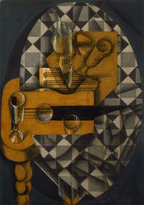 Хуан Грис. Гитара и бокалы