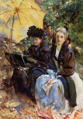 Miss Eliza Wedgwood and miss painting Sargent
