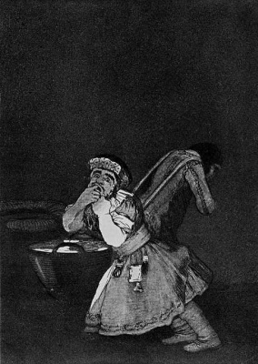Francisco Goya. Series Los Caprichos, sheet 04: Mama's boy