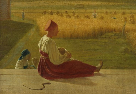 Alexey Gavrilovich Venetsianov. At the harvest. Summer (detail)