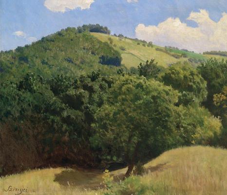 Пал Синьеи-Мерше. Холмистый пейзаж
