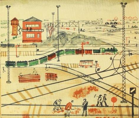 Ниссон Абрамович Шифрин. Поезд едет