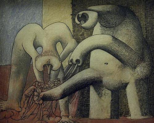 Пабло Пикассо. Две обнаженные женщины на пляже